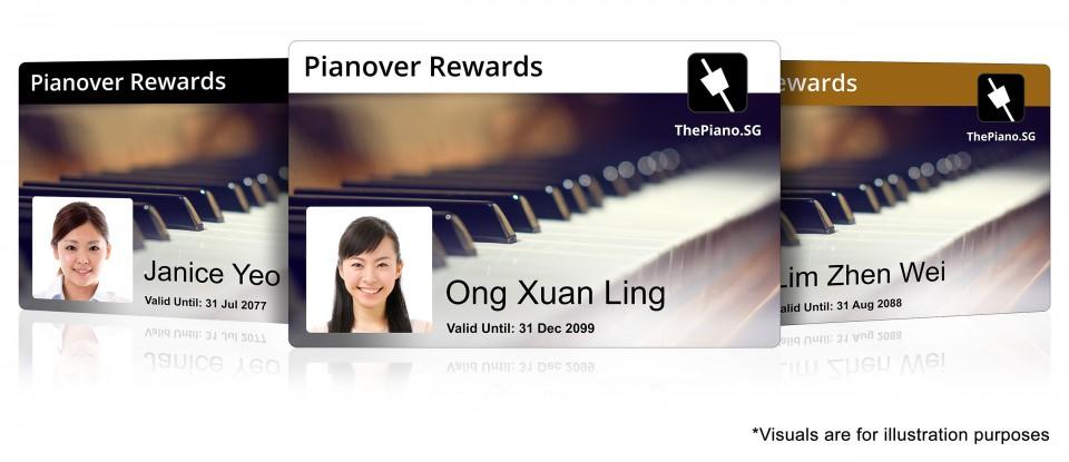 Pianover Rewards Cards