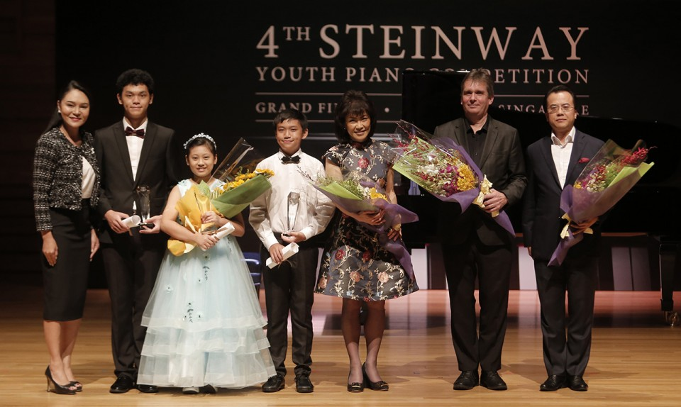 4th Steinway Youth Piano Competition 2018,  Celine Goh, First Prize Winners, and Judges