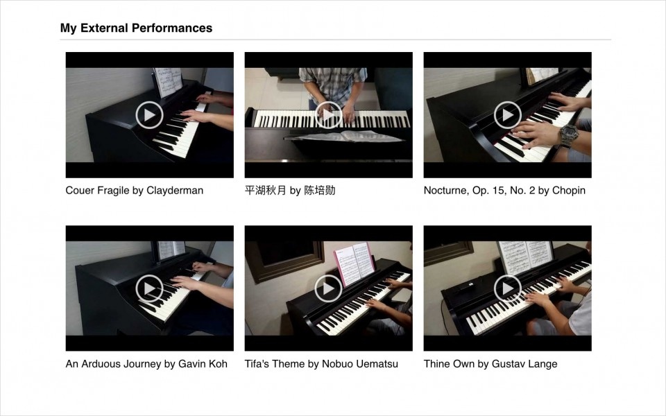 Pianover Profile - My external performances