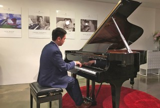 Congyu Wang playing on Steinway Spirio
