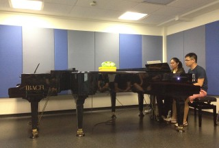 NUS Piano Ensemble Alumni Concert on 09 January 2016, Kimberly Tan and Tan Zhi Quan