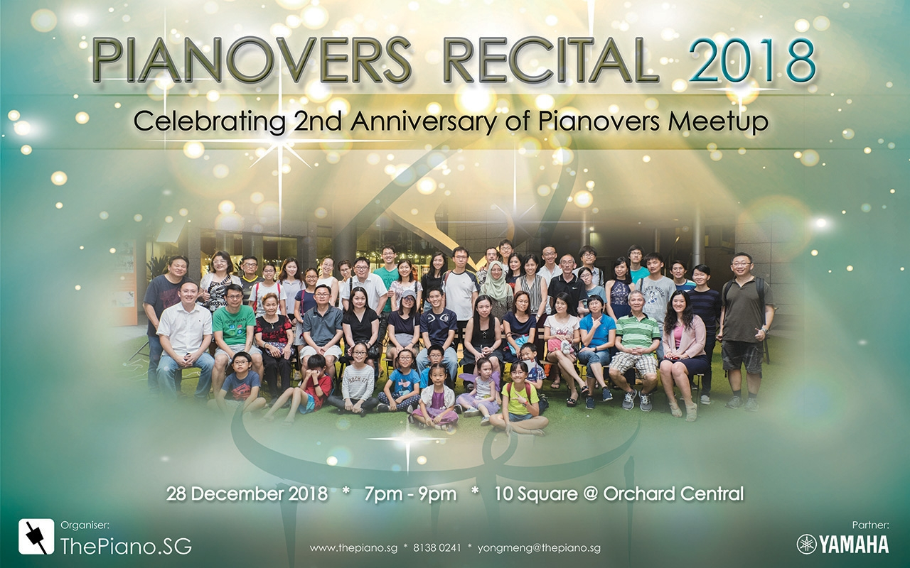 Pianovers Recital 2018