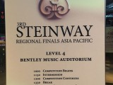 3rd Steinway Regional Finals Asia Pacific 2016, Programmes