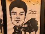 Caricature of Nguyen The Vinh, 15, Vietnam, at 3rd Steinway Regional Finals Asia Pacific 2016