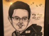 Caricature of Wang Huang Hao Jia, 15, Singapore, at 3rd Steinway Regional Finals Asia Pacific 2016