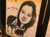 Caricature of Chia-Ying Shen, 16, Taiwan, at 3rd Steinway Regional Finals Asia Pacific 2016
