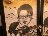 Caricature of Charles Gunn Li Qi, 15, Malaysia, at 3rd Steinway Regional Finals Asia Pacific 2016