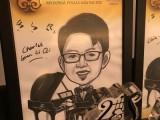 Caricature of Charles Gunn Li Qi, 15, Malaysia, at 3rd Steinway Regional Finals Asia Pacific 2016