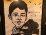 Caricature of Hansel Harel L. Ang, 13, Philippines, at 3rd Steinway Regional Finals Asia Pacific 2016