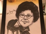 Caricature of Soo-Jung Shum, Judge at 3rd Steinway Regional Finals Asia Pacific 2016