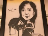 Caricature of Carol Yu, Judge at 3rd Steinway Regional Finals Asia Pacific 2016