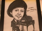 Caricature of Susan Shu-Cheng Lin, Judge at 3rd Steinway Regional Finals Asia Pacific 2016