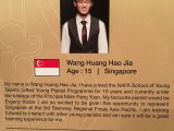 3rd Steinway Regional Finals Asia Pacific 2016, Contestant Profile, Wang Huang Hao Jia, 15, Singapore