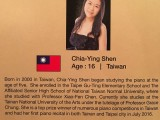 3rd Steinway Regional Finals Asia Pacific 2016, Contestant Profile, Chia-Ying Shen, 16, Taiwan
