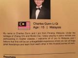 3rd Steinway Regional Finals Asia Pacific 2016, Contestant Profile, Charles Gunn Li Qi, 15, Malaysia