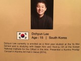 3rd Steinway Regional Finals Asia Pacific 2016, Contestant Profile, Dohyun Lee, 15, Korea