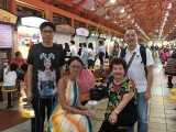 Pianovers Meetup #1, AJ Chen, Denise, Mdm Lily, Sng Yong Meng group picture just after dinner at Maxwell Food Centre