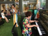 Pianovers Meetup #1, Denise and Mdm Lily performing as the crowd gathered