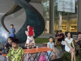 Pianovers Meetup #1, Crowd that was behind when Ms He Zong Yi's student, Isaiah Patrick, plays