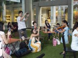 Pianovers Meetup #1, Excited crowd recording the duet performance by Ms He Zong Yi (piano) and her student, Jeannie Li (violin)