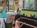 Pianovers Meetup #1, Mother of Ms He Zong Yi's student, Shruti, records her performance