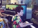 Pianovers Meetup #1, Denise and Mdm Lily playing a duet