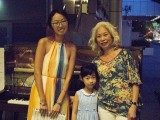 Pianovers Meetup #1, Denise, Elizabeth Ng, and her family member