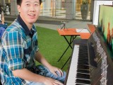 Pianovers Meetup #2, Zhao Heng smiles before his performance