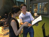 Pianovers Meetup #2, Chris Khoo inviting Tabitha Gan to join him in a duet