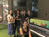Pianovers Meetup #2, Group picture of Yang Liu, Joshua Peter, Peter Prem, and Tabitha Gan