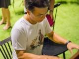 Pianovers Meetup #5, Timothy Goh plays, Junn Lim looks on