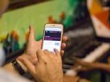 Pianovers Meetup #5, Candid shot of Phone showing lyrics