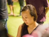 Pianovers Meetup #5, Pauline Tan plays, while Joseph Lim looks on