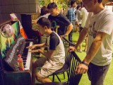 Pianovers Meetup #5, Ronnie Poh plays, Gee Yong, Timothy Goh look on