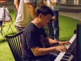 Pianovers Meetup #5, Gee Yong plays, Timothy Goh looks on