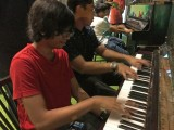Pianovers Meetup #8, Harith and Xavier jamming