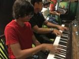 Pianovers Meetup #8, Harith and Xavier jamming