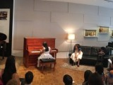 Launch of new Steinway Crown Jewel, Paranomic view of Chen Jing playing to an audience