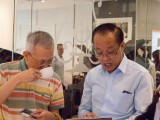 Launch of new Steinway Crown Jewel, Ben Mah (right) representing Newby Teas