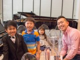 Launch of new Steinway Crown Jewel, Andrew Goh with three children