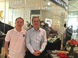 Launch of new Steinway Crown Jewel, Sng Yong Meng, and Ben Mah, representing Newby Teas