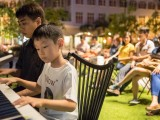 Pianovers Meetup #9, Barrick Wong playing, accompanied by Ong