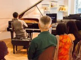 Conferment Ceremony of Young Steinway Artist Mervyn Lee, Mervyn Lee performing for the crowds