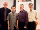 Conferment Ceremony of Young Steinway Artist Mervyn Lee, Thomas Hecht, Mervyn Lee, John Sharpley, and Tan Chorh Chuan