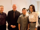 Conferment Ceremony of Young Steinway Artist Mervyn Lee, John Sharpley, Thomas Hecht, Mervyn Lee, and Celine Goh
