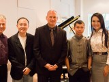 Conferment Ceremony of Young Steinway Artist Mervyn Lee, John Sharpley, Sng Yong Meng, Thomas Hecht, Mervyn Lee, and Celine Goh