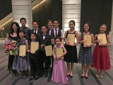 3rd Steinway Youth Piano Competition Gala Concert, Group picture of adjudicators and contestants