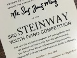 3rd Steinway Youth Piano Competition Gala Concert, Invitation card addressed to ThePiano.SG