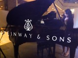 Steinway Gallery Singapore Clearance Sale 2016, Steinway & Sons logo on the piano