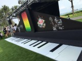 The Music Run, Huge piano keyboard on the grass